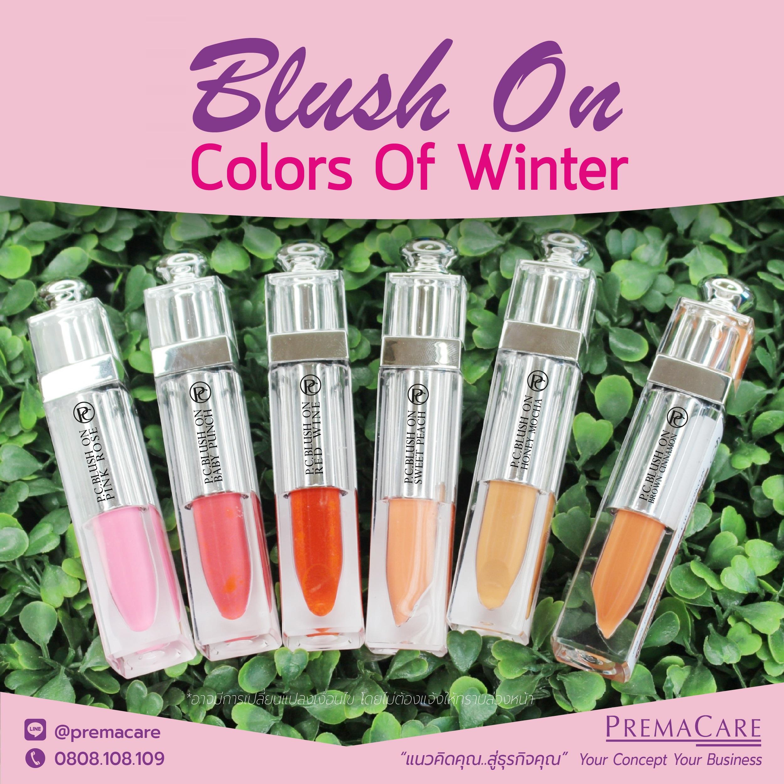 Blush on cream ครีมปัดแก้ม : Color Of Winter โดยบริษัทพรีมา แคร์-โรงงานรับผลิตเครื่องสำอาง เวชสำอาง ครีม